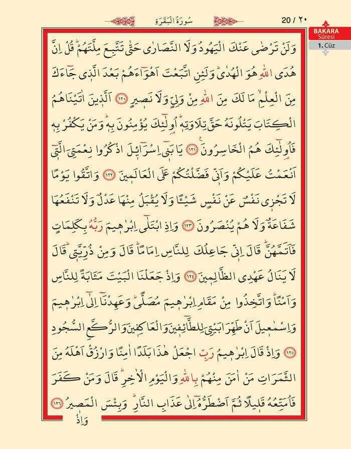Bakara Sûresi - 18.Sayfa - 1. Cüzün 4. Hizbi